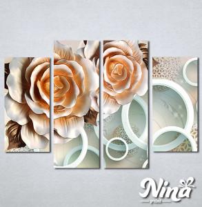 Slike na platnu 3d Bež ruže Nina315_4