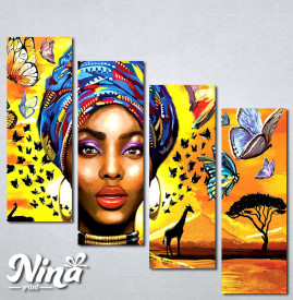 Slike na platnu Africki motiv Nina326_4