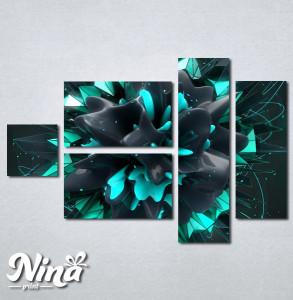 Slike na platnu Apstrakcija cvet Nina233_5