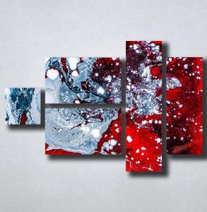 Slike na platnu Apstrakcija razlivene boje Nina176_5