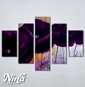 Slike na platnu Apstraktni ljubičasti cvet Nina257_5