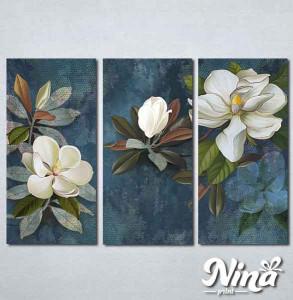 Slike na platnu Beli cvet na plavoj pozadini Nina337_3