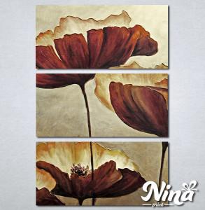 Slike na platnu Braon cvet Nina303_3