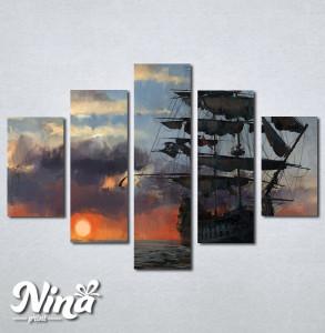 Slike na platnu Brod Nina247_5