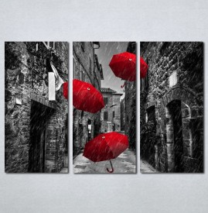 Slike na platnu Crveni kisobran Nina209_3