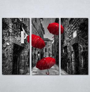 Slike na platnu Crveni kisobrani Nina209_3
