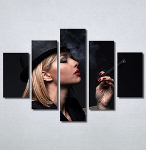 Slike na platnu Dama u crnom Nina30345_5