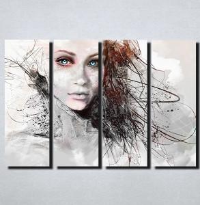 Slike na platnu Devojka apstrackcija Nina157_4