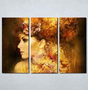 Slike na platnu Devojka apstraktno Nina084_3