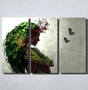 Slike na platnu Devojka apstraktno Nina153_3