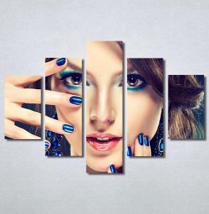Slike na platnu Devojka sa plavim noktima Nina30364_5
