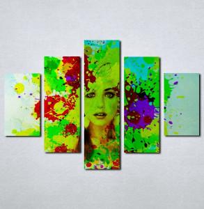 Slike na platnu Devojka u bojama Nina076_5