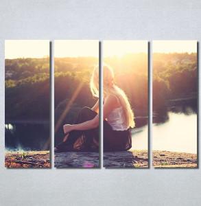 Slike na platnu Girl and sunset Nina30168_4