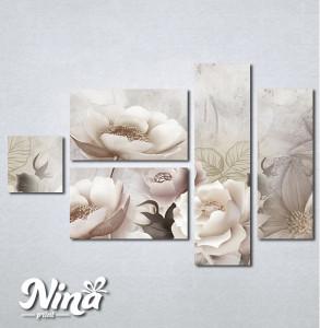 Slike na platnu Krem cvetna bajka Nina333_5