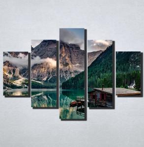 Slike na platnu Kucica na jezeru Nina174_5