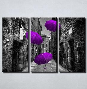 Slike na platnu Ljubicasti kisobran Nina211_3