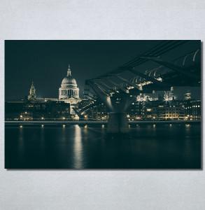 Slike na platnu Most noću Nina30208_P