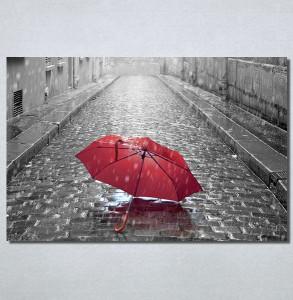 Slike na platnu Pariz i crveni kisobran Nina30145_P