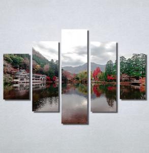 Slike na platnu Pogled na jezero Nina30184_5