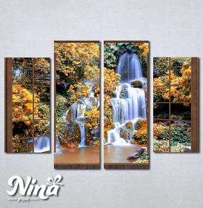 Slike na platnu Prozor ka vodopadu Nina278_4