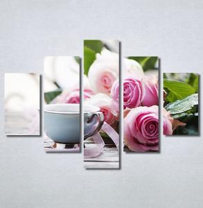 Slike na platnu Ruže i kafa Nina30343_5