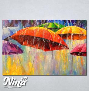 Slike na platnu Šareni kišobrani Nina272_P