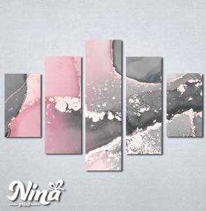 Slike na platnu Sivo roze apstrakcija Nina334_5