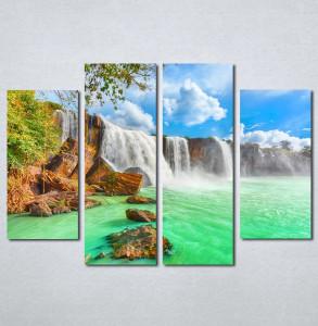 Slike na platnu Tirkizni vodopad Nina140_4