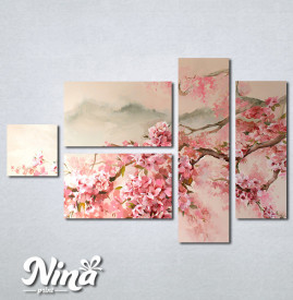Slike na platnu Tresnjin cvet apstrakcija Nina344_5