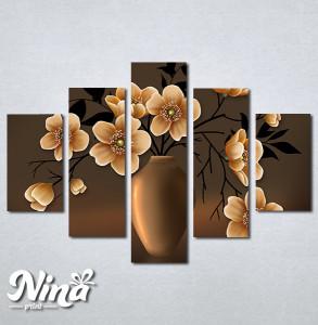 Slike na platnu Vaza i cveće Nina291_5