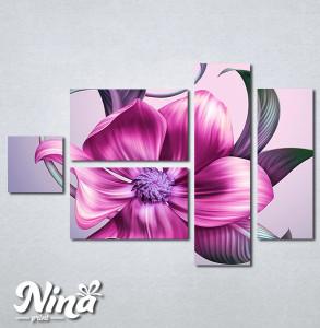 Slike na platnu Veliki roze cvet Nina270_5