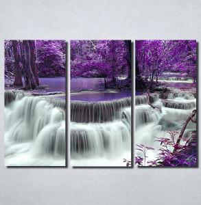 Slike na platnu Vodopad i ljubičasto lišće Nina100_3