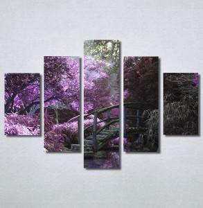 Slike na platnu Vrt i ljubičasto drvo Nina30220_5