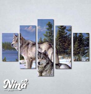 Slike na platnu Vukovi Nina273_5