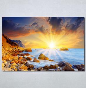 Slike na platnu Zalazak sunca i more Nina30218_P