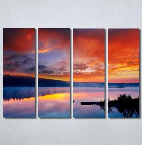 Slike na platnu Zalazak sunca na jezeru Nina30259_4