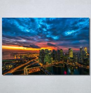Slike na platnu Zalazak sunca u gradu Nina30247_P