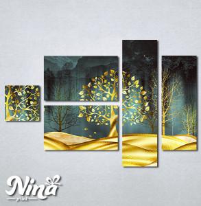 Slike na platnu Zlatno drvece Nina332_5