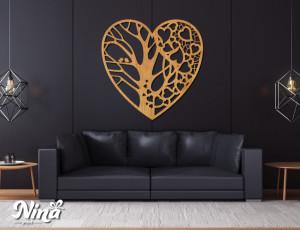Dekor Nina Drvo srce drvo nd018h