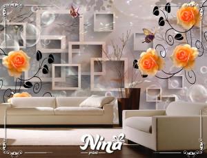 Foto tapet 3d narandžaste ruže Tapet203