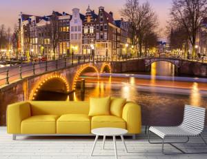 Foto tapeta Amsterdam nocu_Tapet166