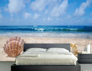 Foto tapeta Plaža i školjke Tapet006