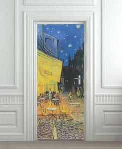 Nalepnica za vrata Cafe Terrace at Night Vincent Van Gogh 6101