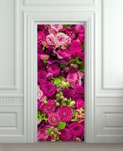 Nalepnica za vrata Cvetna slika6157