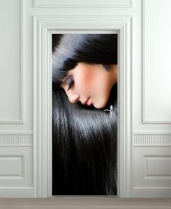 Nalepnica za vrata Devojka crne kose 6091