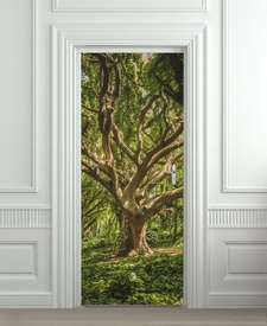 Nalepnica za vrata Drvo 6138