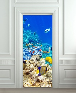 Nalepnica za vrata Morski svet 6121