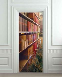 Nalepnica za vrata Polica sa knjigama 6217