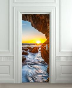 Nalepnica za vrata Zalazak sunca na moru 6120