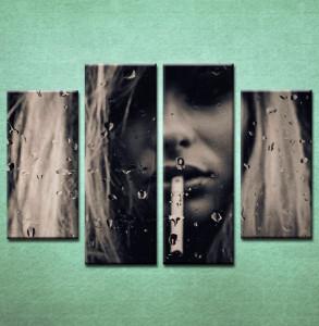 Slika na platnu Devojka sa cigaretom Nina3029_4